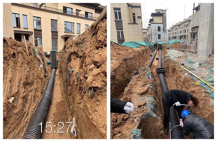 焦作-郑北某绿化工程在洁尔康采购PE波纹管及PE管件