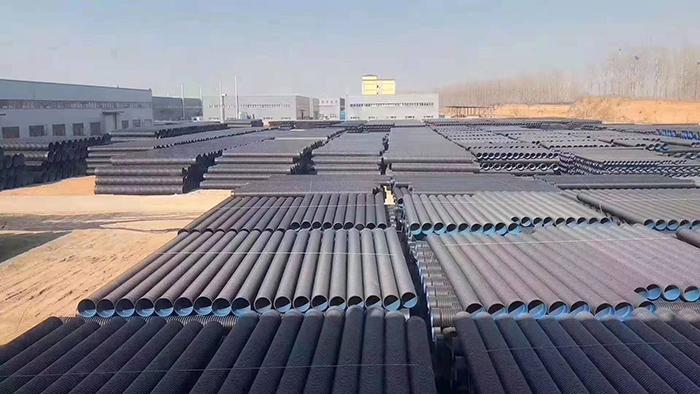 焦作-郑北孔雀城绿化工程在洁尔康采购PE波纹管及PE管件